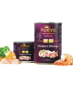 hrana umeda pentru pisici Nuevo Cat Pui si Creveti