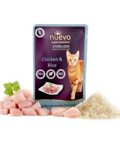 hrana umeda pisici Nuevo Cat Sterilized Pui si Orez