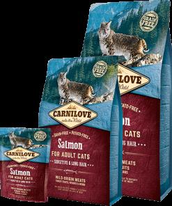 carnilove somon pentru pisici sensibile cu par lung CatelulGras.ro