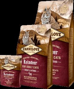 Carnilove Ren Cats Energy Outdoor Hrana pisici cu ren fara cereale