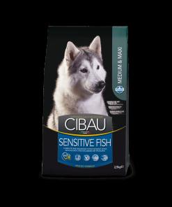Hrana uscata Cibau Sensitive Medium Maxi Peste