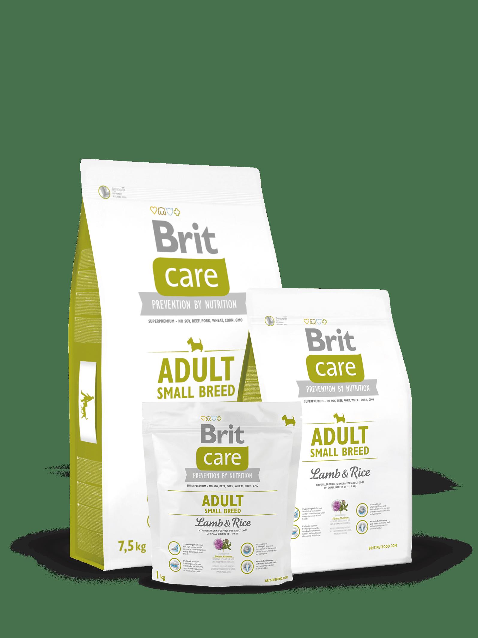 brit care adult talie mica miel si orez mancare caini pentru caini adulti de talie mica