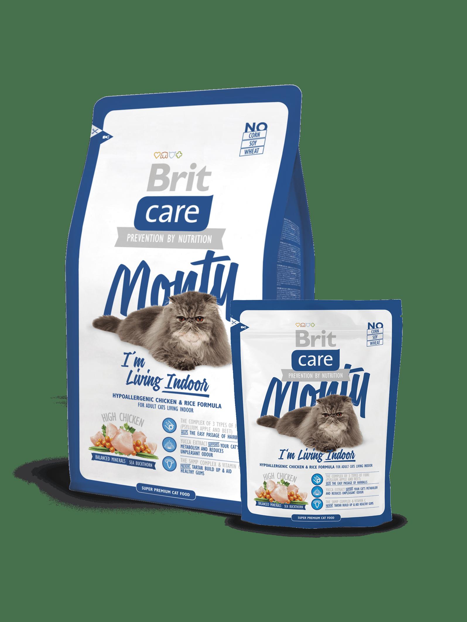Hrana uscata pisici Brit Care Cat Monty Living Indoor