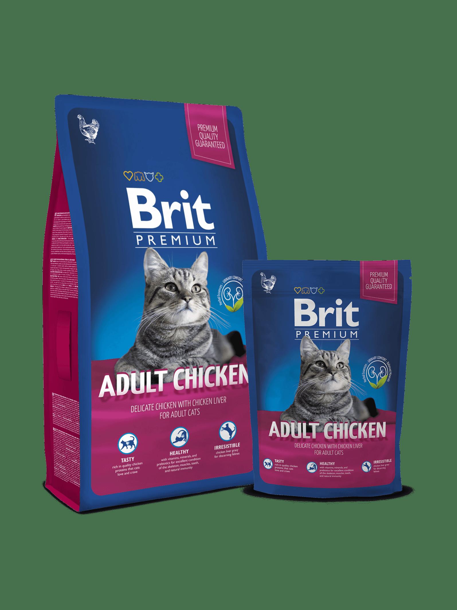 Brit Premium Cat Adult cu Pui
