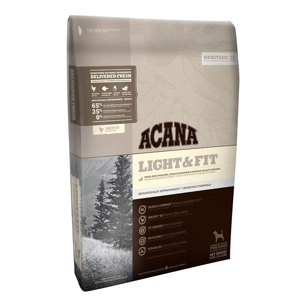 Acana Light and Fit pentru caini fara cereale