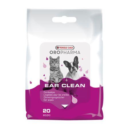 servetele de curatare alre urechilor pentru caini si pisici oropharma ear cleaner