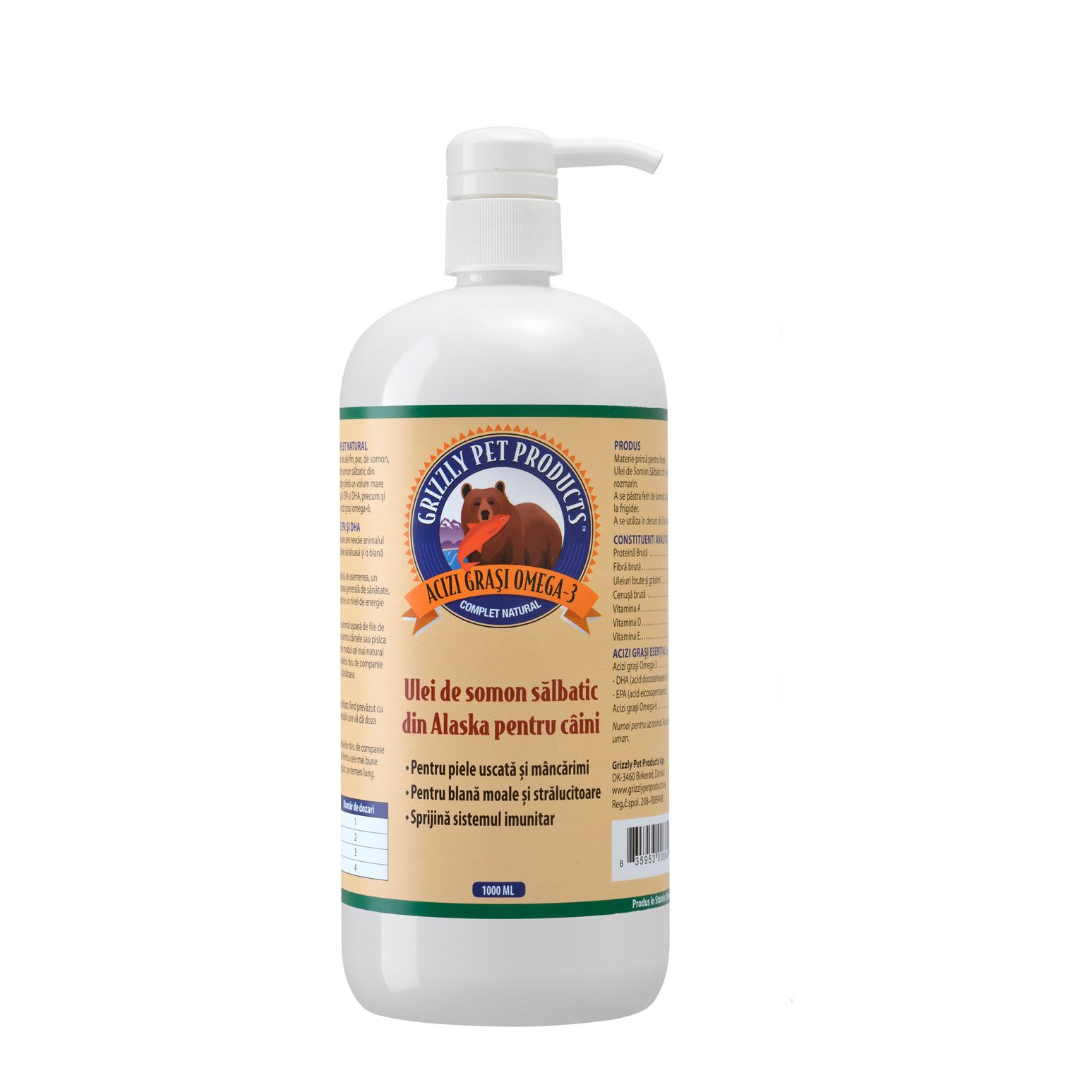 Ulei somon salbatic grizzly salmon oil 1 l catelulgras