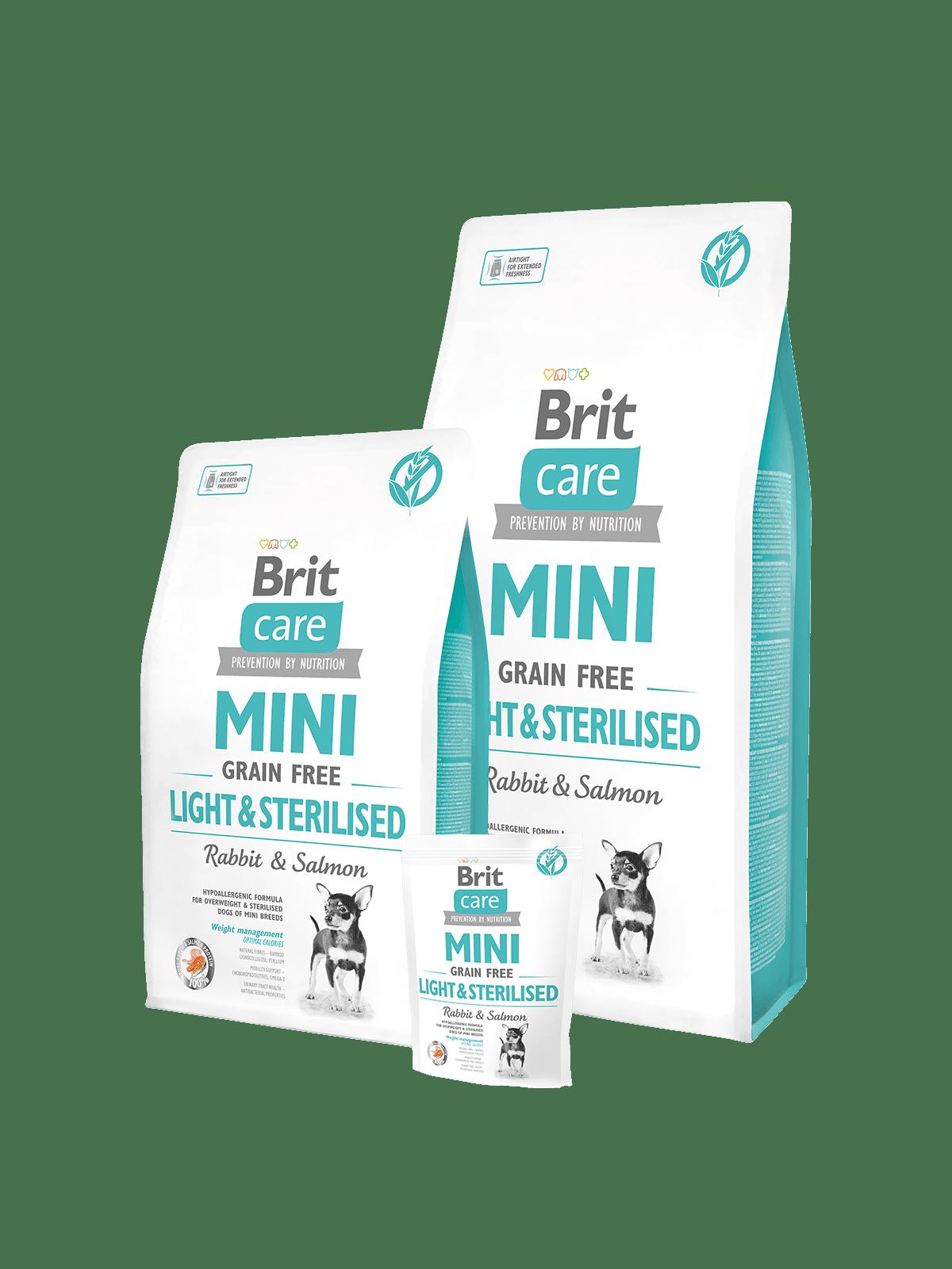 hrana brit care mini talie mica pentru caini sterilizati