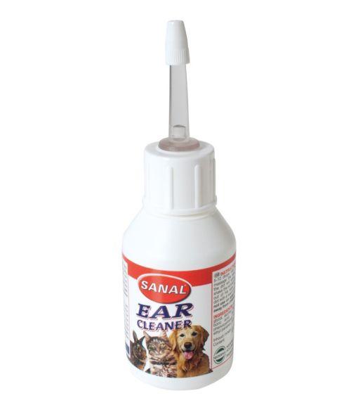 solutie pentru curatat urechi caini si pisici Sanal