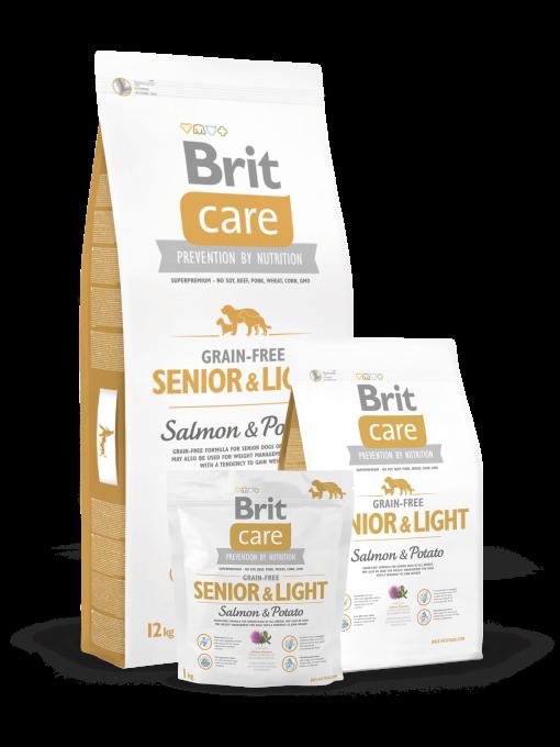 Hrana caini Brit Care Senior Light Somon si Cartofi Fara Cereale