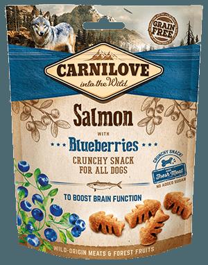 Carnilove crunchy snacks pentru caini cu somon si afine