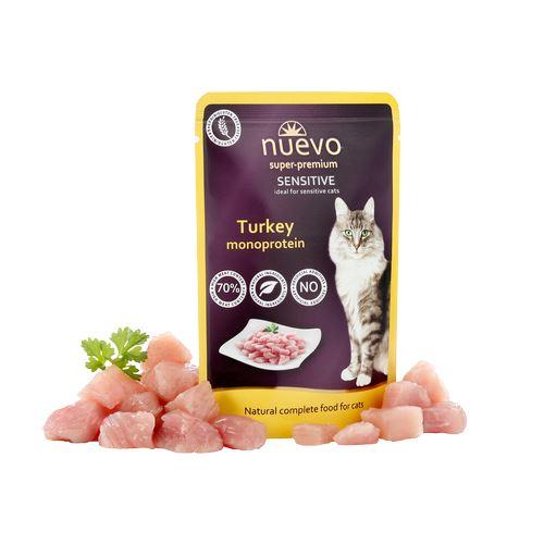 hrana umeda pisici Nuevo Cat Sensitive Curcan