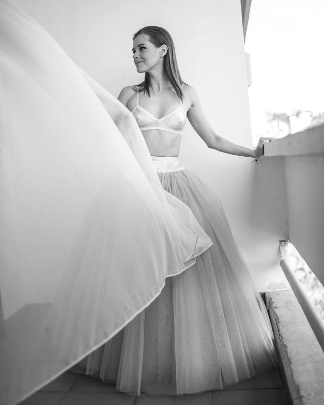 Катерина Шпица предстала в образе балерины и пышной юбке