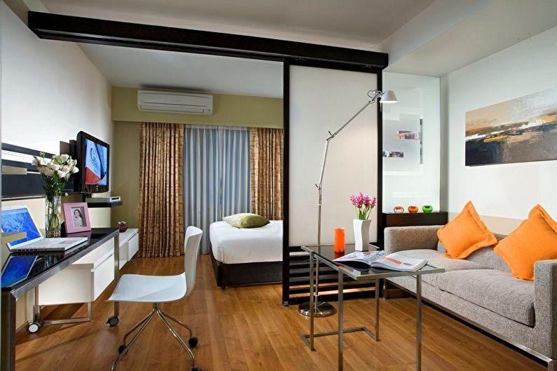 60+ идей перепланировки однокомнатной квартиры (фото)