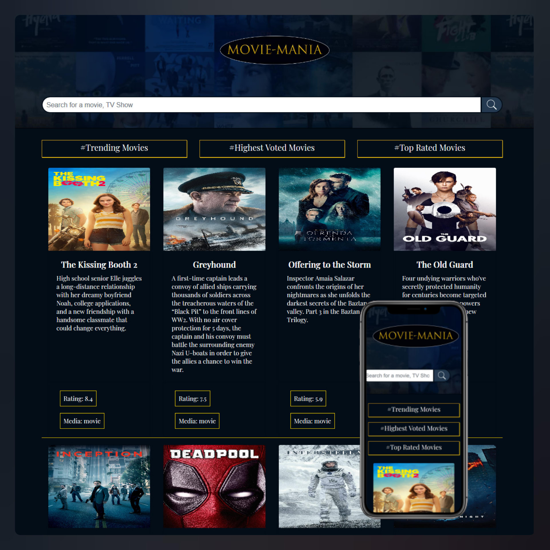 moviemania website