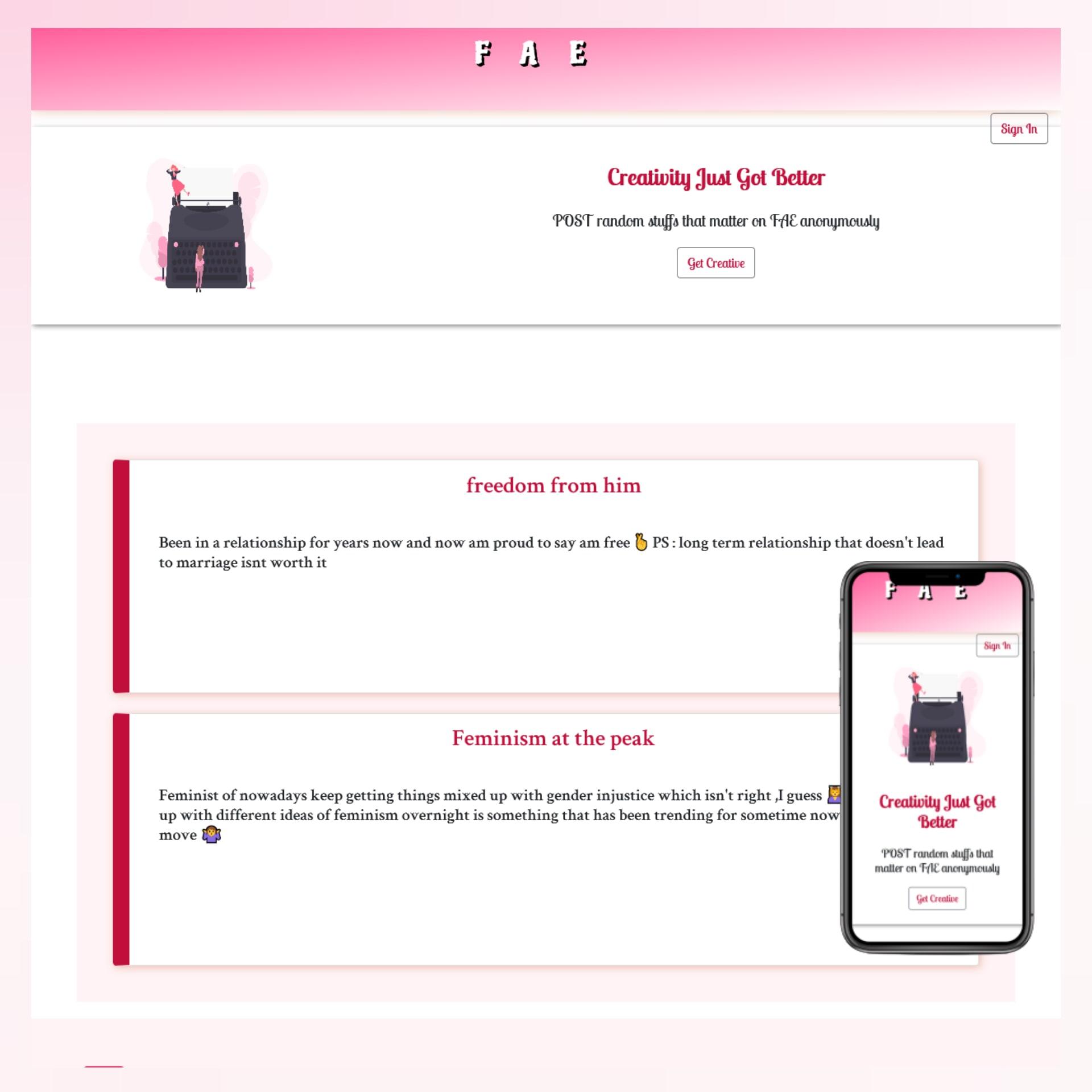 Fae blog website