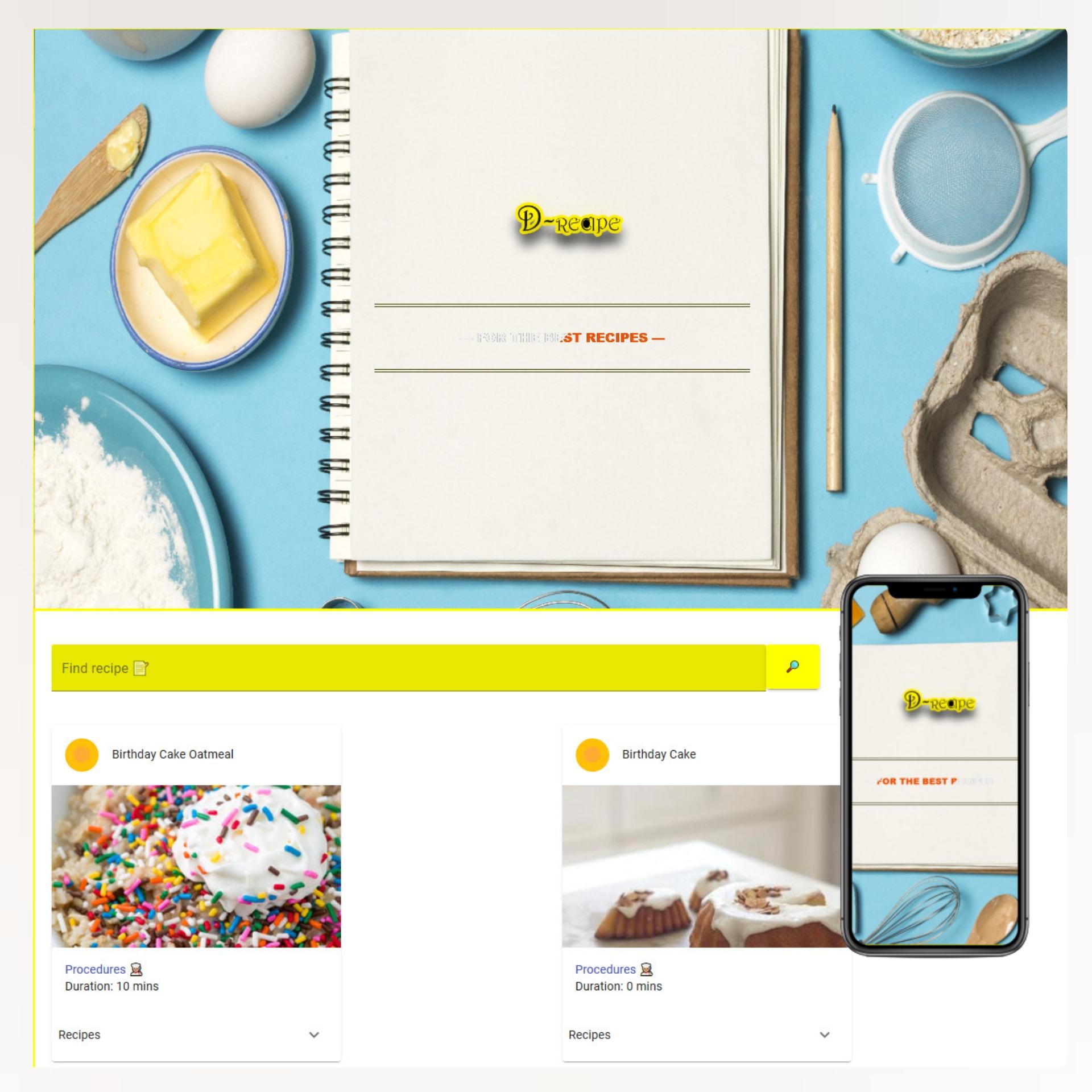 d-recipe website