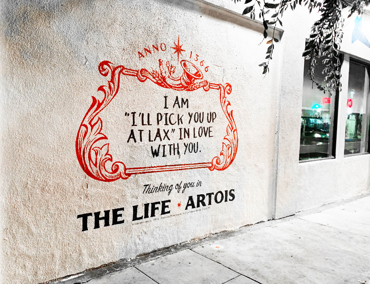 Anheuser Busch Stella Artois Mural Los Angeles by Sel