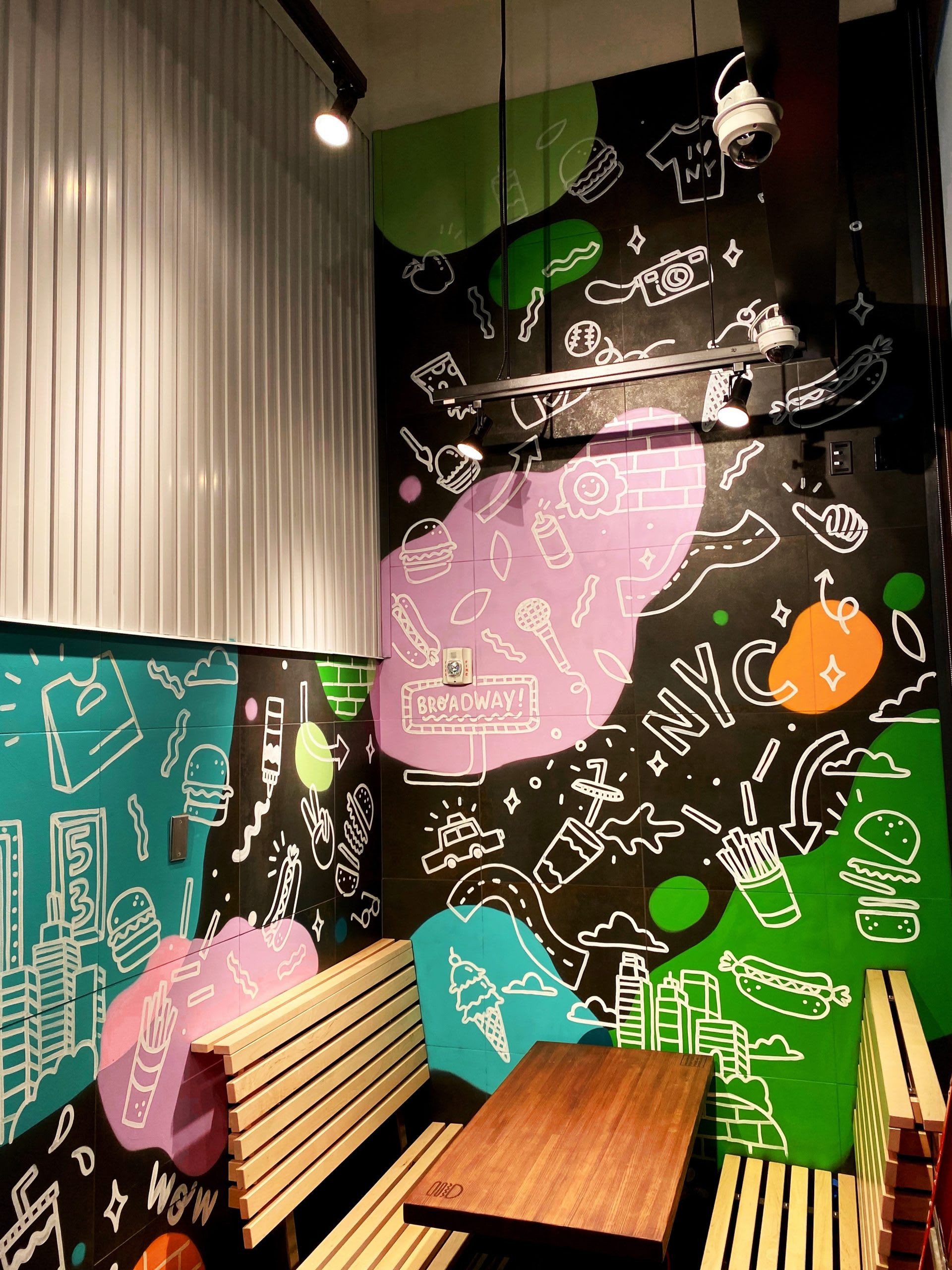 Shake Shack Manhattan New York Mural by Steffi Tsai