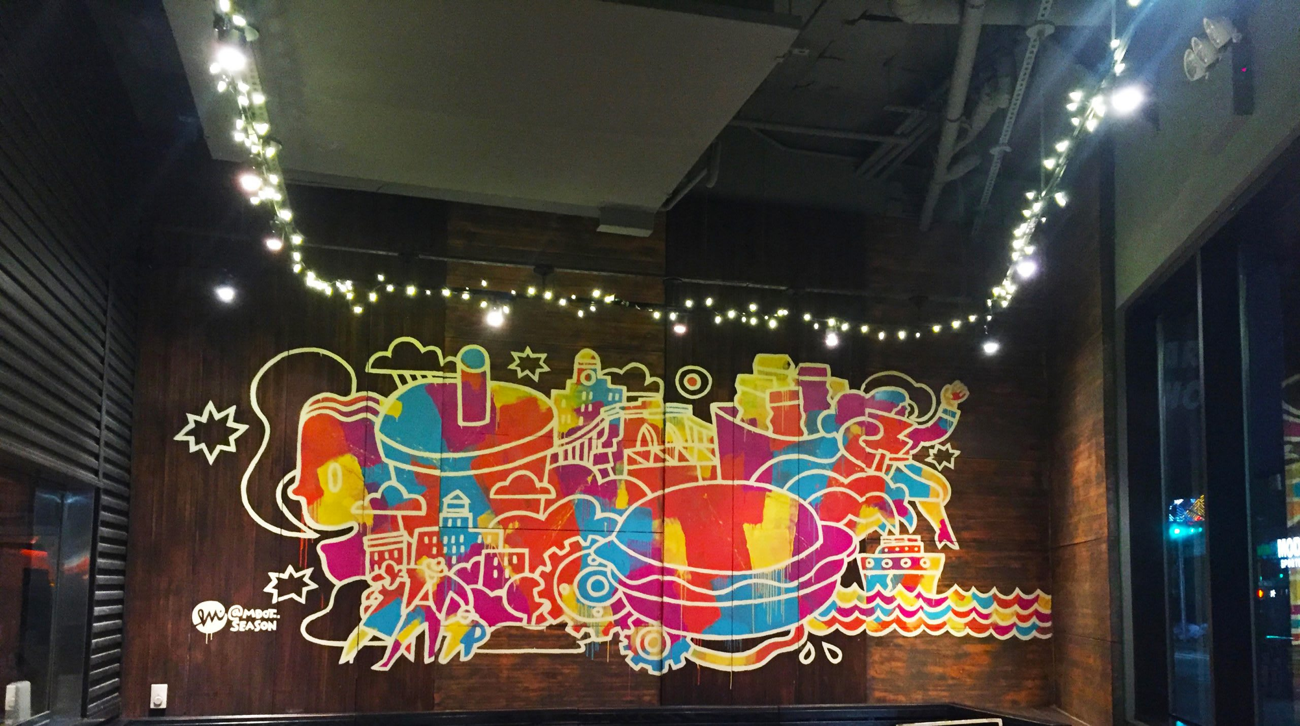 Shake Shack Downtown Brooklyn Mural by Misha Tyutyunik