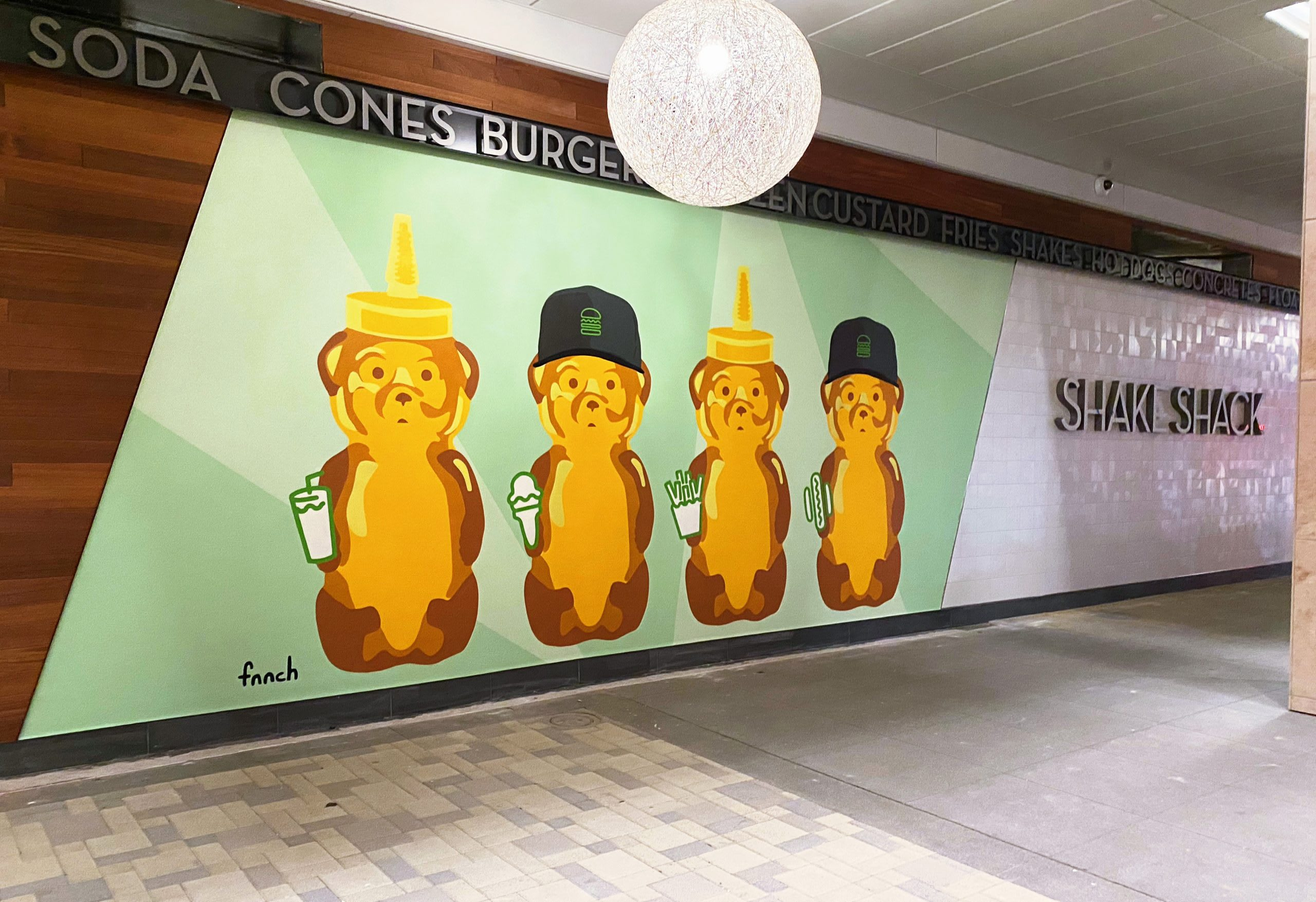 Shake Shack Hillsdale California Mural by Fnnch