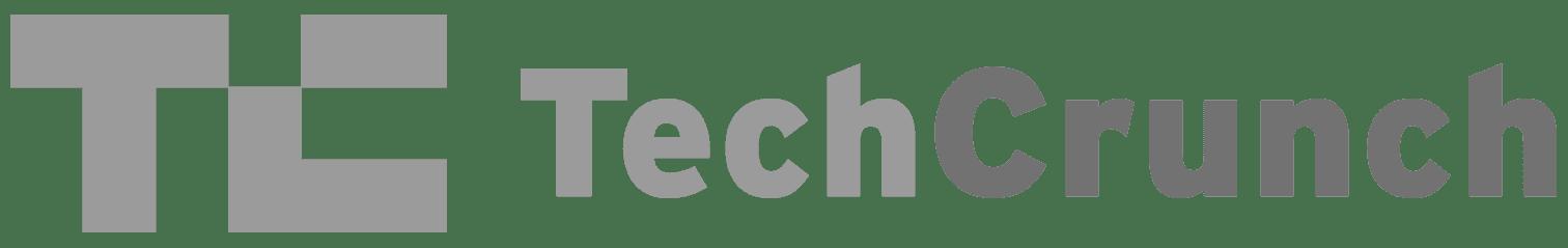 Greyscale Logo For Tech Crunch