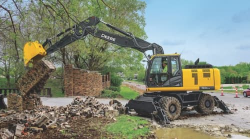 John Deere tracked excavator