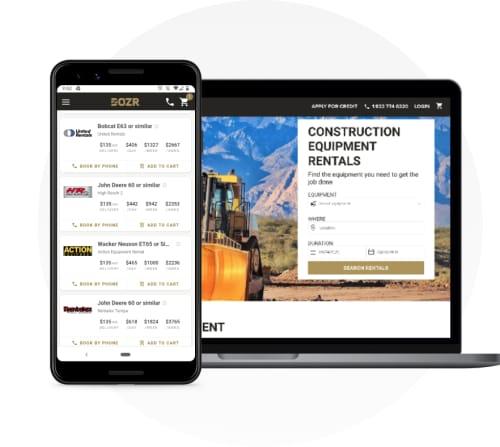Webstores online ecommerce construction equipment rentals