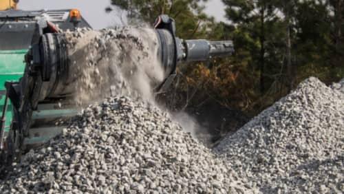 Machine moving stones