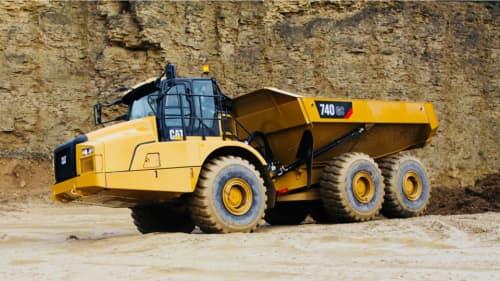 CAT 740 GC articulating dump truck