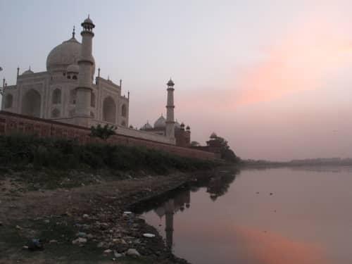 Backside of the Taj - river in view