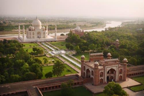 Taj Mahal from Above