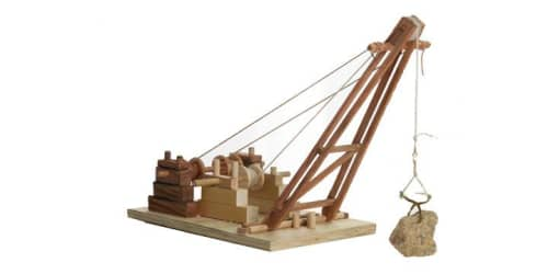 A graphic of what an old crane may have looked like