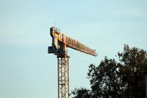 tower crane in sky