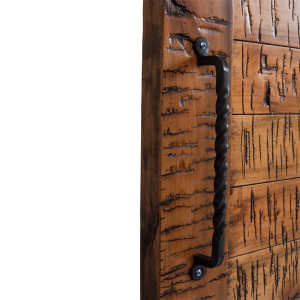 Minimal Industrial Sliding Barn Door Handle | Rustica Hardware