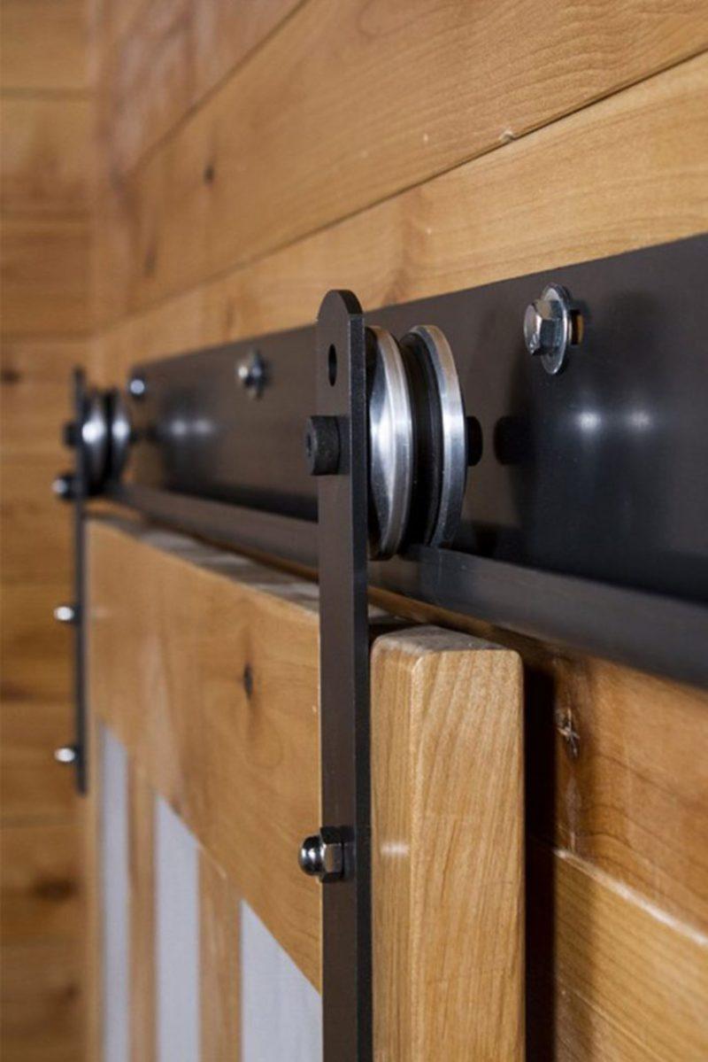 Barn Door Track Hanging Rail Accessories J Shape Hangers Black SODIAL Sliding Door Hardware Hangers 2 Piece Set