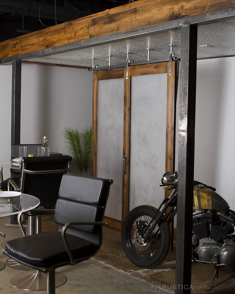 Ceiling Mounted Sliding Barn Door Track Rustica Hardware