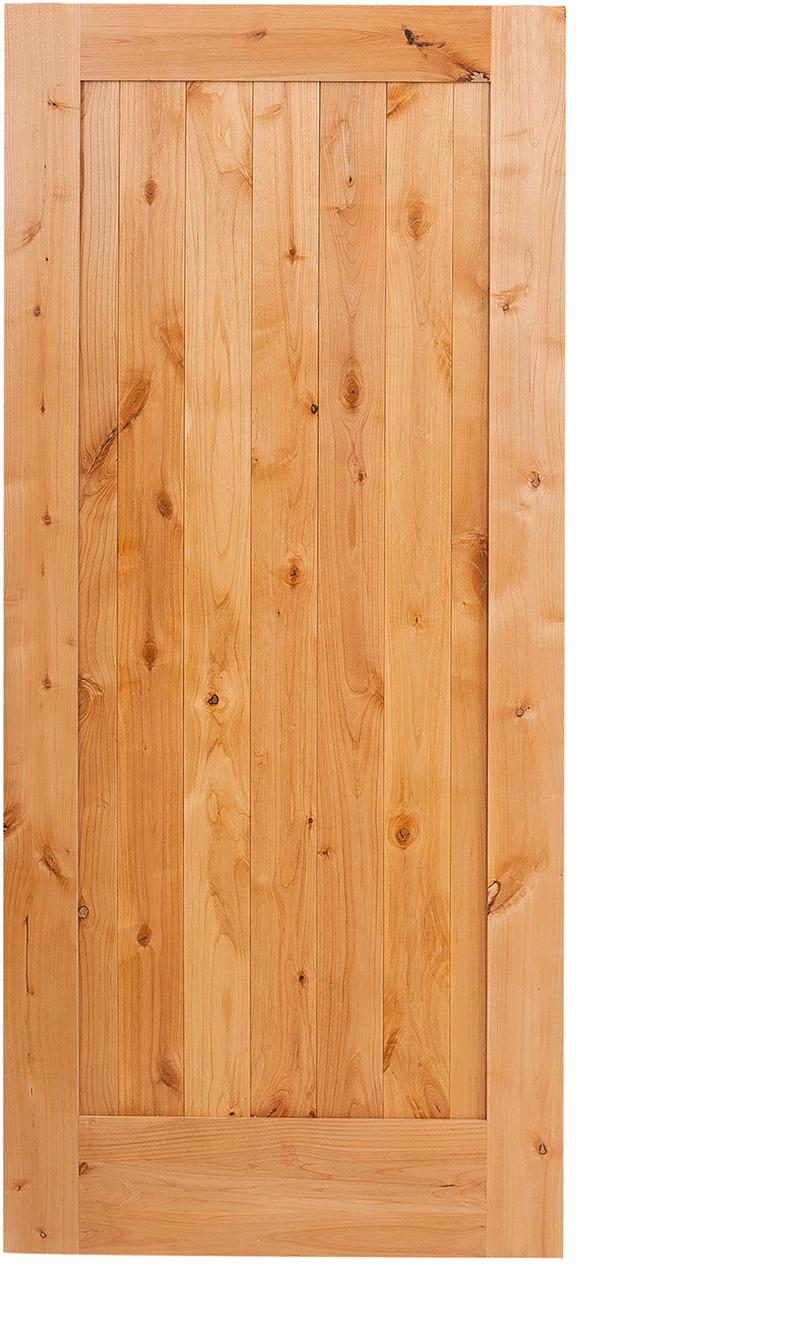 Vertical Wood Slat Barn Door The Lewiston Hinged
