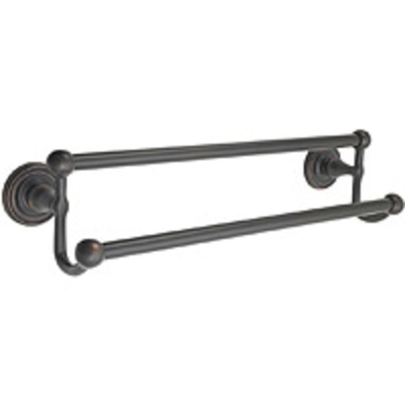 Brass Double Towel Bar 24in