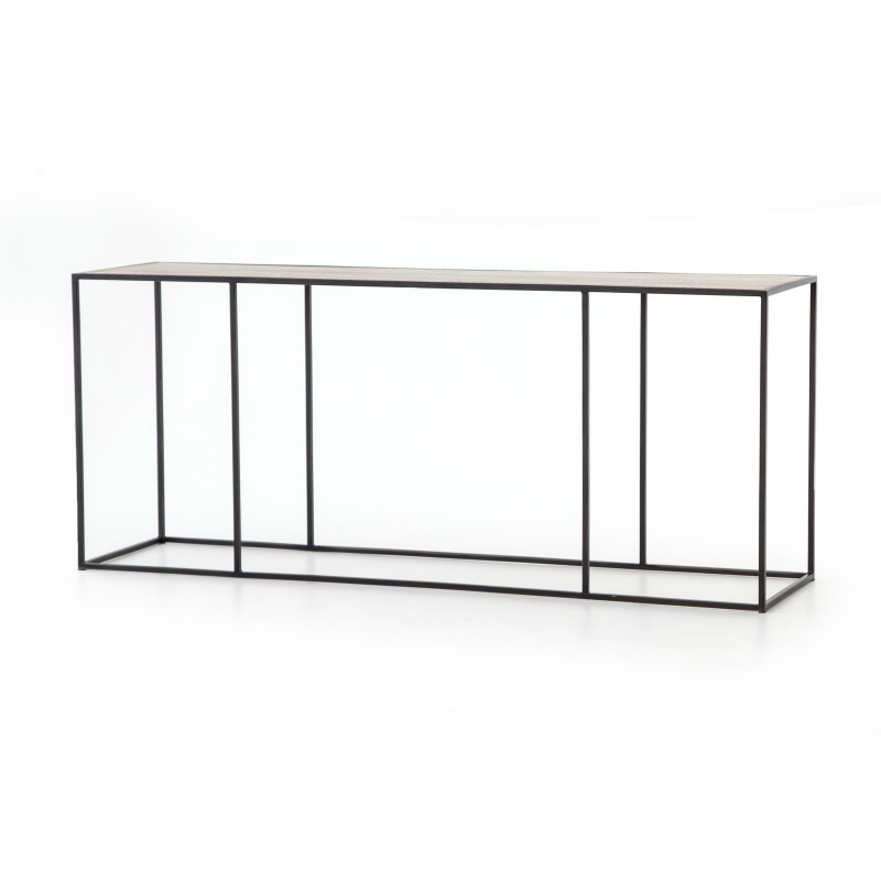 Phillip Black Modern Console Table