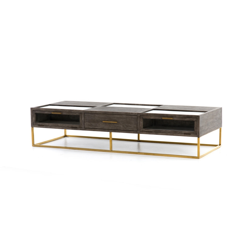 Andreas Ash Oak Coffee Table With Drawers