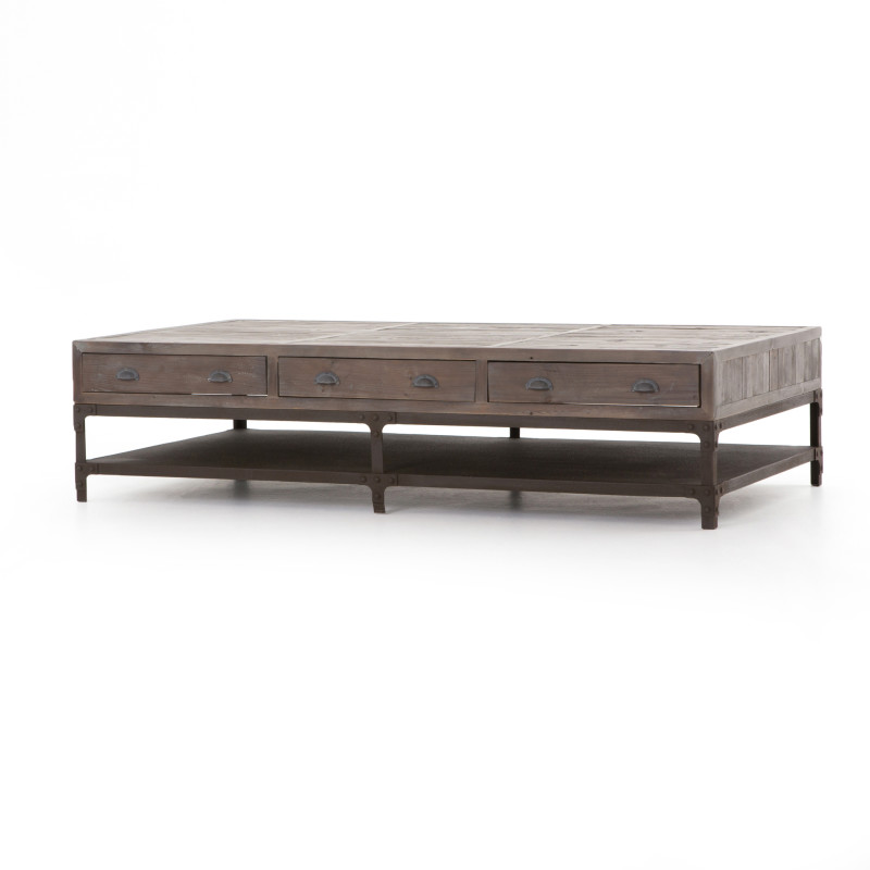 Campbell Contemporary Wood Coffee Table
