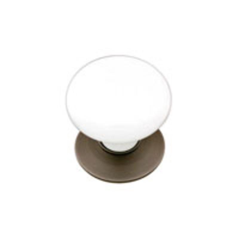 Porcelain Cabinet Knob – Ice White 1-3/8