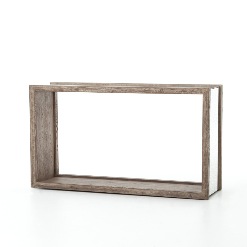 Finley Wood and Mirror Console Table