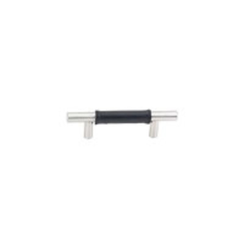 Stainless Steel Leather Bar Pull 3-1/2in