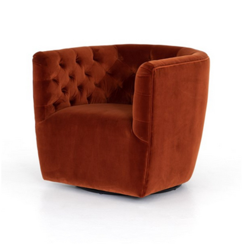 Hanover Velvet Tufted Swivel Chair