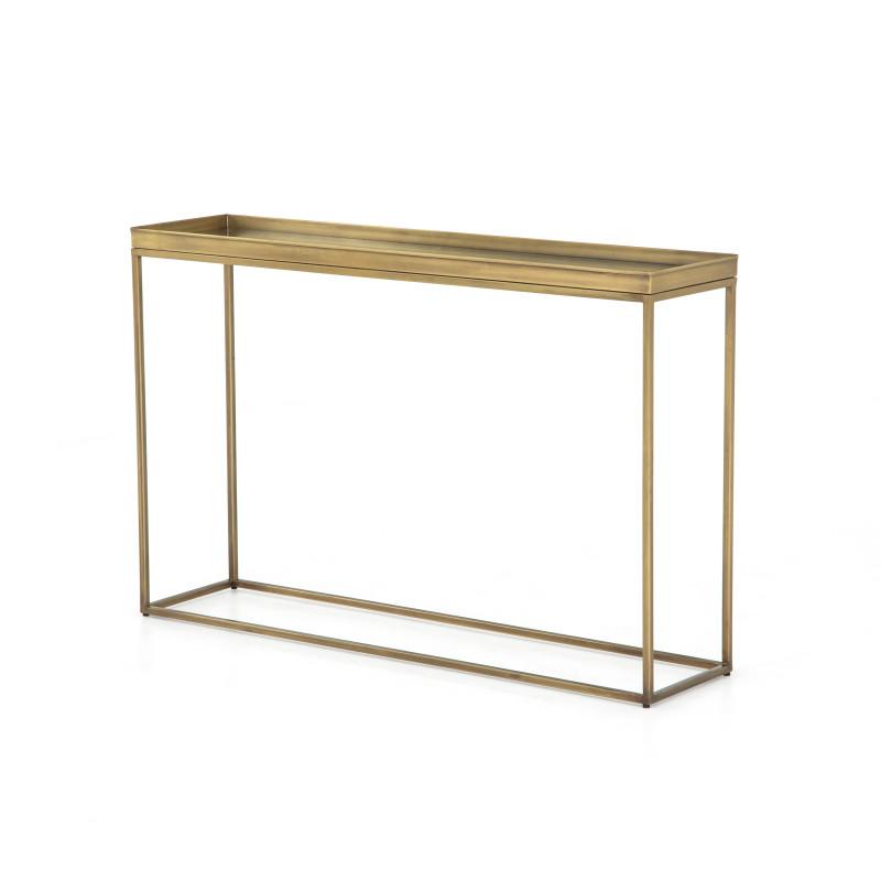 Kline Narrow Brass Console Table