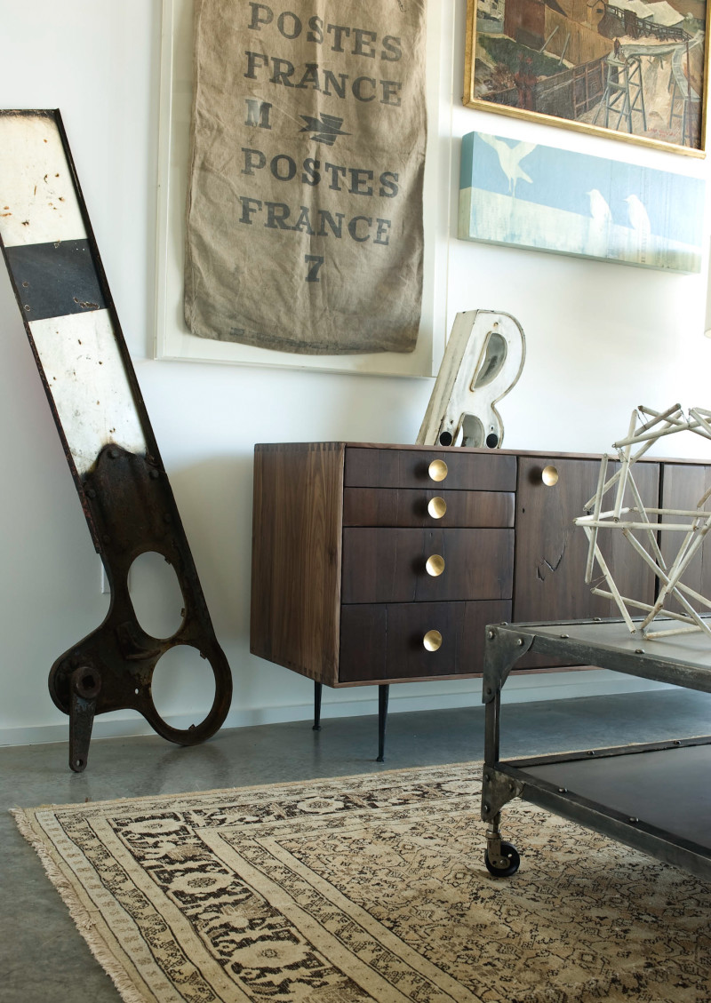 Element Industrial Wheeled Cart Coffee Table