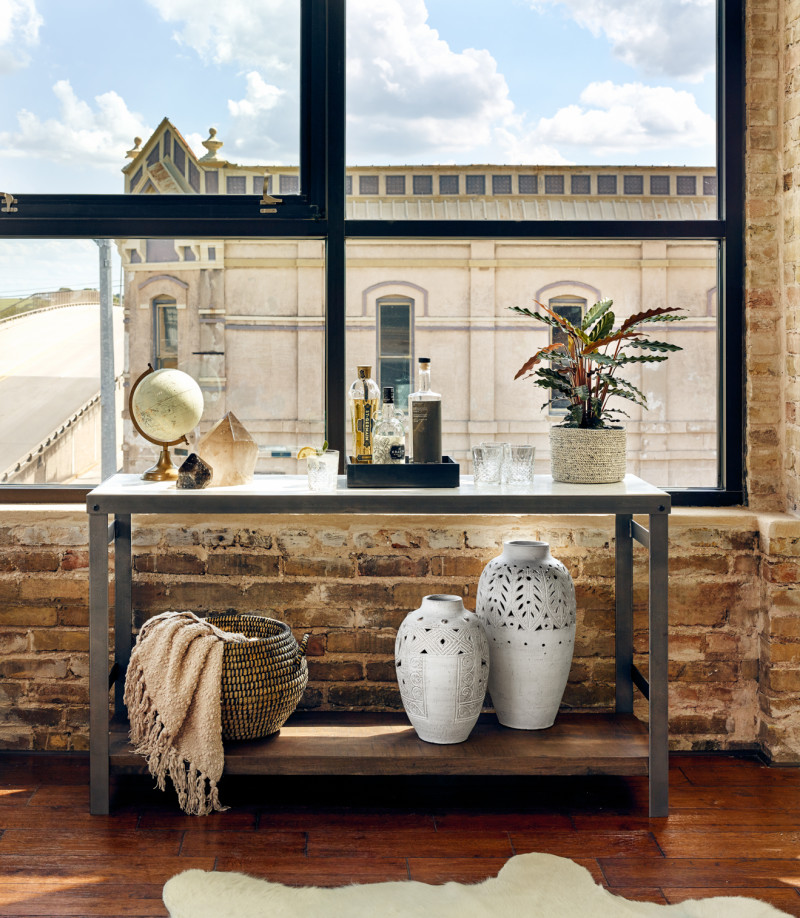 Elliot Iron and Wood Console Table