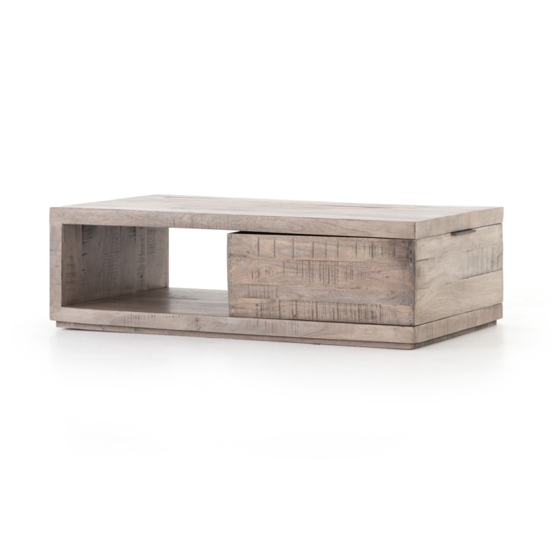 Dillon Distressed Acacia Wood Coffee Table